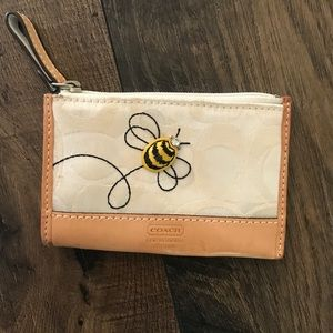 Coach BEE Coin Purse with Key Ring